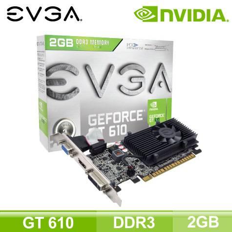 EVGA GT610 2GB (2GB/核心810MHz/記憶體1000MHz) 【附短檔片-裝機首推】加碼贈品 Mcafee防毒軟體ㄧ年版原版序號卡-EVGA限定活動 × 1