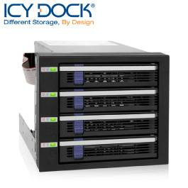ICY DOCK 4轉3 內接SATA模組-MB154SP-B