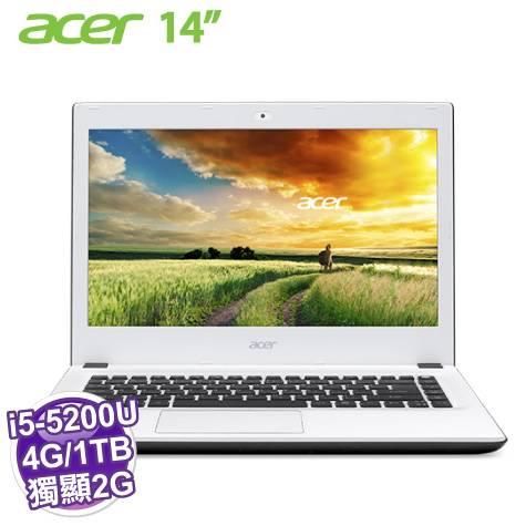 acer E5-473G-56CS【i5-5200U/4G/1TB/NV-940M 2G/FHD/DVD/W8.1】【福利品出清】