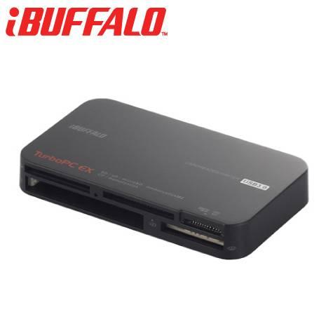 Buffalo USB3.0+Turbo 超速多合一讀卡器-黑【福利品出清】