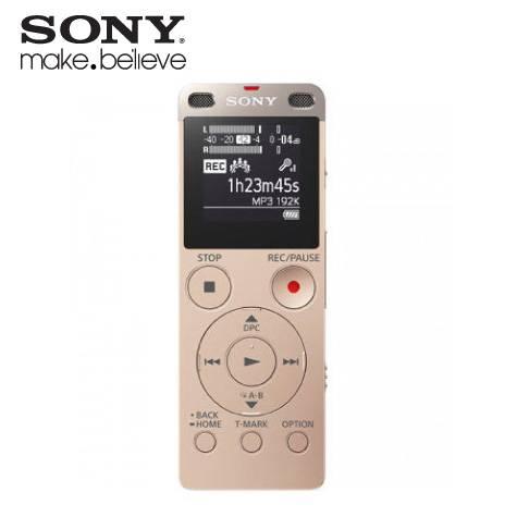 SONY ICD-UX560FNCE/4GB數位錄音筆(金色)加碼贈品 16G 隨身碟:SONY USM16X/白 × 1