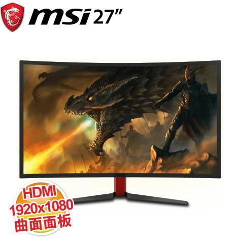 超低价优惠加价购msioptixg24c24吋极速曲面电竞萤幕/1920x10