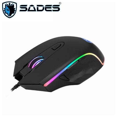 賽德斯SADES SCYTHE 幻影狼鐮 RGB 巨集變頻電競滑鼠/4000dpi/7個自定義按鍵