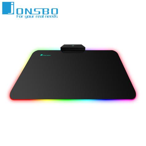 喬思伯JONSBO MP-2 鋼化玻璃RGB鼠墊-中/260x360x6mm