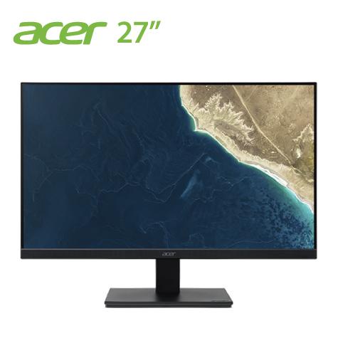 【27型】acer V277U IPS商用螢幕/2560x1440/Adaptive-Sync/廣色域100% sRGB/PIP+PBP/無邊框/DP/HDMIx2/喇叭/壁掛/MM.TDGTT.00