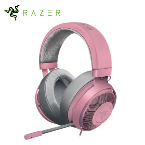 Razer Kraken 北海巨妖耳麥/有線/線控/清涼凝膠耳罩/3.5mm/粉晶