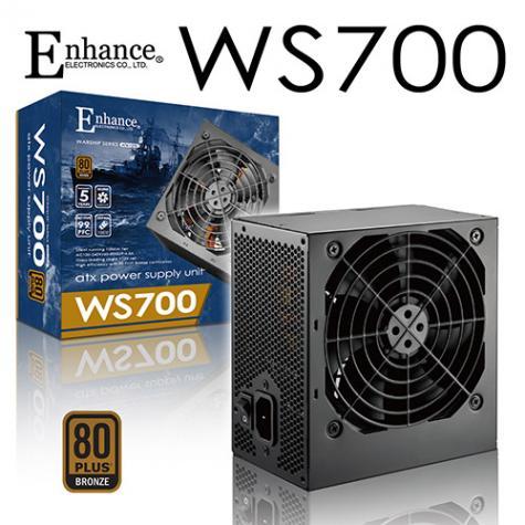 ENHANCE 益衡 WS700 700W 80+銅牌 (日系電容/長150mm/五年保固一年換新)