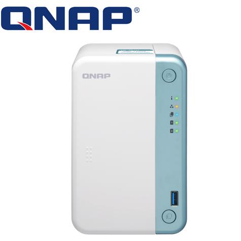 威聯通QNAP TS-251D-2G 網路儲存伺服器/2Bay/Intel J4005 雙核心 2.0GHz/2GB*1(Max 4G*2)/GbEx 1/2年保