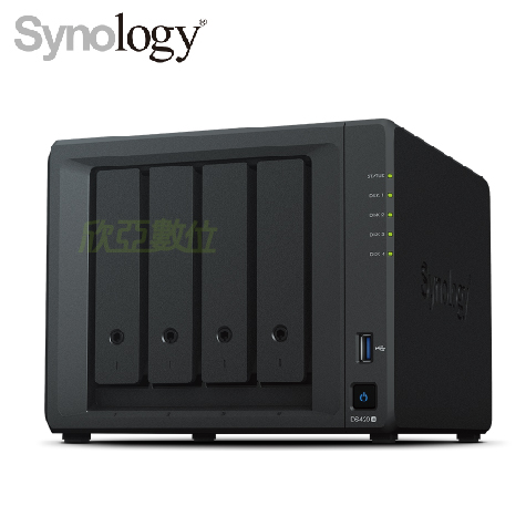 群暉 Synology DS420+ 網路儲存伺服器 (4Bay/Intel Celeron J4025 雙核/DDR4 2G/USB 3.0 *2/熱插拔/3年保)