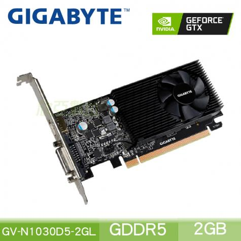 技嘉 GeForce GV-N1030D5-2GL/Std:1468MHz/註冊四年保