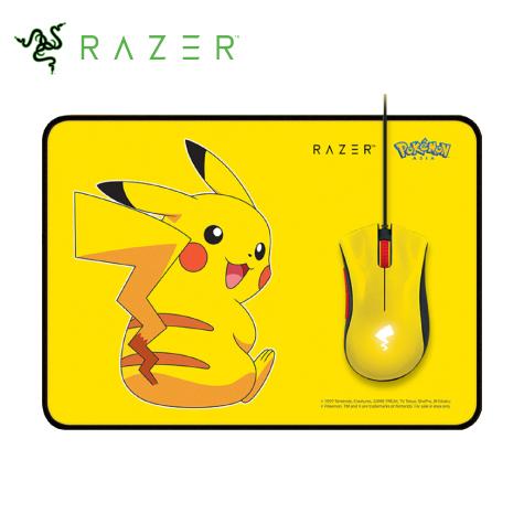 Razer Pikachu 皮卡丘限定款 電競滑鼠+滑鼠墊套
