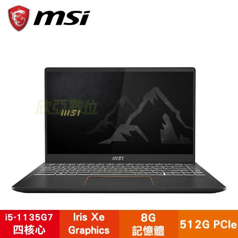 MSI Summit B14 A11M-032TW Summit系列商務菁英筆電/i5-1135G7/8G/512G PCIe/14吋 IPS FHD/W10P/白色背光鍵盤/三年保