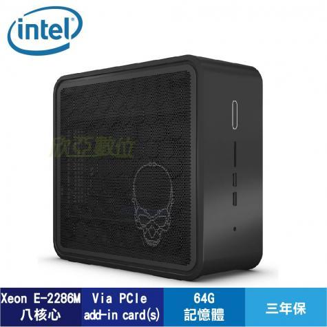 Intel NUC 準系統 BKNUC9VXQNX1骷顱頭(E-2286M/WIFI/HDD.RAM.軟體選購)