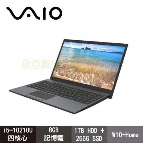 VAIO FE15 簡約灰 時尚商務筆電 i5-10210U/8GB/1TB+256G SSD/15.6吋FHD/W10/NE15V1TW004P