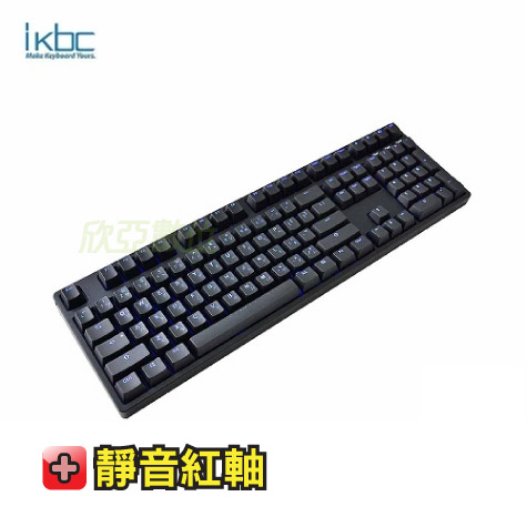 ikbc TD108 機械式鍵盤-黑/靜音紅軸中文/藍光背光/Cherry軸/PBT鍵帽