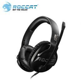 ROCCAT KHAN Pro 悍音系列 專業版高解析電競耳機-黑/耳罩式/超輕巧230g/高解析音效/記憶海綿耳罩