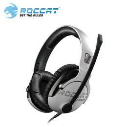 ROCCAT KHAN Pro 悍音系列 專業版高解析電競耳機-白/耳罩式/超輕巧230g/高解析音效/記憶海綿耳罩