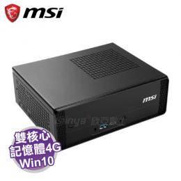 MSI Cubi 3 Plus-004TW 迷你電腦 /黑 G3930/4G/32G M.2/WiFi/W10/1年保