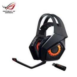 華碩ASUS ROG STRIX Wireless 梟鷹無線電競耳機/耳罩摺疊式設計/支援 PC.Mac.PS4.行動裝置
