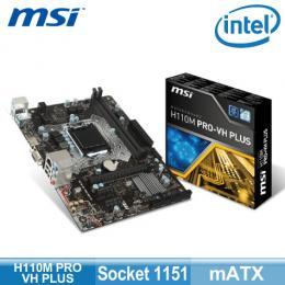 微星 H110M PRO-VH PLUS(mATX/1H1A/全固態/4年保)