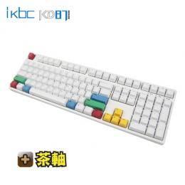 ikbc CD108 機械式鍵盤/櫻桃茶軸中文/PBT鍵帽-白色