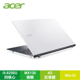 acer E5-576G-549C 雪白白戰鬥筆電/i5-8250U/MX130 2G/4G/1TB/15.6FHD/DVD/W10/含acer原廠包包及滑鼠