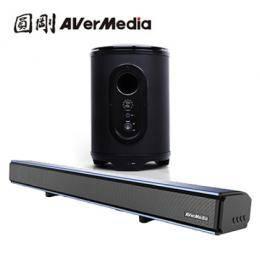 圓剛 戰神巴雷特 GS333+GS335 2.0聲道 藍芽無線 電競Soundbar+重低音喇叭 套組