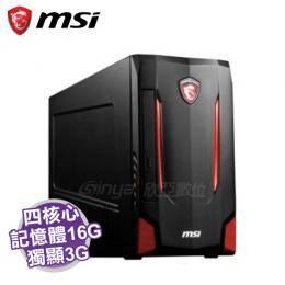 MSI Nightblade MI2-287TW 電競電腦/i7-6700/GTX-1060 3G/16G/256G SSD/DVD/WiFi/W10/3年保