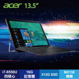 acer SW713-51GNP-80B2 黑/i7-8550U/MX150 2G/16G/512G SSD/13.5吋QHD IPS觸碰/W10-PRO/含原廠包包、鍵盤底座及手寫筆