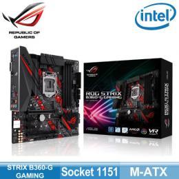 華碩 STRIX B360-G GAMING(mATX/4*DDR4/1D1H/2*M.2/intel LAN/S1220A音效)登錄五年保固