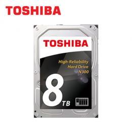 TOSHIBA 8TB(HDWN180AZSTA) NAS專用硬碟/7200轉/128MB/三年保固