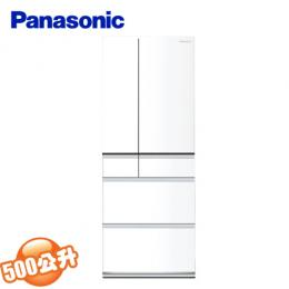 Panasonic國際牌 日本原裝500公升變頻六門冰箱 NR-F503HX-W1 翡翠白 (含基本安裝)
