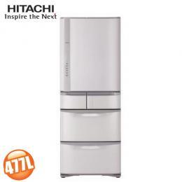 HITACHI日立 日本原裝477公升五門變頻冰箱 RS49GJ/SN 香檳不銹鋼 (含基本安裝)