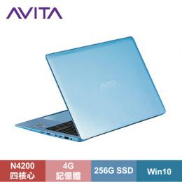 AVITA LIBER 纖薄型筆電 天使藍/N4200/4G/256G SSD/13.3吋FHD IPS/W10/LAPTOP-AVITA-011-005【福利品出清】