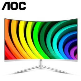 AOC C32V1QD 32吋白色VA曲面液晶顯示器(VA/HDMI/DP/三年保固)
