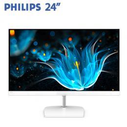 PHILIPS飛利浦 243E9QHSW 24型 VA液晶顯示器-白色 (VA/FreeSync/D-Sub/HDMI/三年保固)