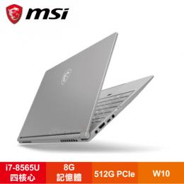 MSI PS42 Modern 8MO-019TW 微星全機鋁輕薄精品筆電/i7-8565U/8G/512G Pcie/14吋FHD IPS/W10/白色背光鍵盤/含包包及滑鼠