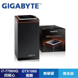 技嘉 GB-BNi7HG6-1060 VR電競迷你電腦(i7-7700HQ 3.8GHz(4C/8T)/GTX1060/Gigabit / 11AC /U3 * 4/HDMI)不含 RAM、HDD 宿..