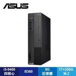 華碩 ASUS H-S641SC-I59400003T桌上型電腦/i5-9400/B360/8G/1T+256G M.2/DVDRW/讀卡機/Type-C/WiFi/Win10/附鍵盤滑鼠