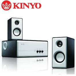 KINYO KY-670 2.1聲道全木質防磁擴大三件式喇叭(雪白黑)