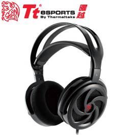 Tt eSPORTS SHOCK Spin HD 震撼者颶風版 頭戴式電競耳麥 鑽石黑/50MM喇叭驅動單體/隨插即用麥克風/虛擬7.1立體音質/HT-SKH006ECBL