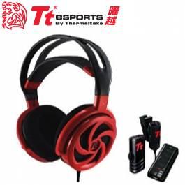 Tt eSPORTS SHOCK Spin HD 震撼者颶風版 頭戴式電競耳麥 皇家紅/50MM喇叭驅動單體/隨插即用麥克風/虛擬7.1立體音質/HT-SKH006ECRE