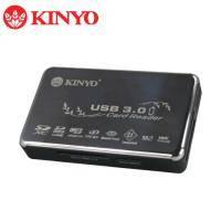 KINYO KCR-358 USB 3.0全功能讀卡機 / 達5Gbps 的資料傳輸 / 8卡槽設計支援CF卡 / 鈦金屬面板【福利品出清】
