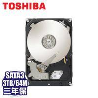 TOSHIBA 3TB(DT01ACA300) /7200轉/SATA3/64MB/三年保固