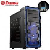 保銳 Ostrog GT 黑魅大帝 黑藍版/ATX/黑化/下置電源/U3*2+U2*2/支援412mm顯卡/12公分+14公分+20公分風扇各1個/ECA3281A-BL