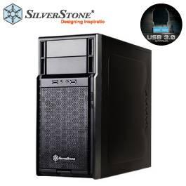 銀欣 精準系列 SST-PS08 機殼(黑)/M-ATX/上置電源/顯卡長35/風扇高14/U3*2/兩大/後12*1