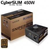 Cyberslim sniper 狙擊手 MIT 450W (450W/80+銅/單路12V 38A) 九葉雙滾珠鐮刀風扇/全日系/五年保固二年免費