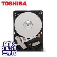 TOSHIBA 3TB AV監控碟(DT01ABA300V) /SATA3/32MB快取/低噪音/低功耗/三年保固內非人損直接換新