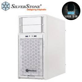 銀欣 精準系列 SST-PS08W 機殼(白)/M-ATX/上置電源/顯卡長35/風扇高14/U3*2/兩大