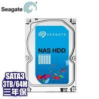 Seagate 3TB/NAS碟(ST3000VN000-3Y) /5900轉/64MB/三年全保
